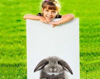 Rabbit print, nursery decor, baby animal, kids gift, nursery wall art, printable art, nursery prints, kids wall art, instant download art