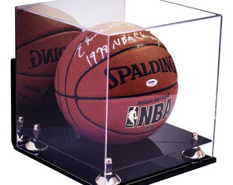 Full Size Basketball Display Case with Wall Mount