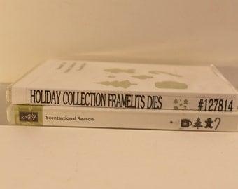 Stampin Up Stamp Set + Framelits- Scentsational Season-Holiday Collection Framelits Dies