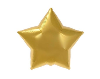 Gold star balloon.  Metallic star balloons.  Twinkle Twinkle Little Star party balloons.  Outer space party gold star balloons.