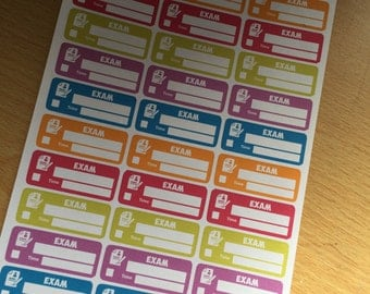 EXAM tracker planner stickers great for university college school  happy planner other designs in the shop