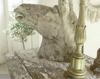 Very large, decorative horse head, sculpture, bust...CHARMANT!