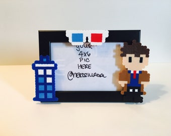 Doctor Who-Dr. Who Picture Frame-Tardis- 10th Doctor - Doctor Who Picture Frame - Dr Who Christmas-Dr Who Birthday