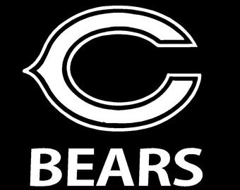 NFL Chicago Bears Football Decal/Sticker (White)