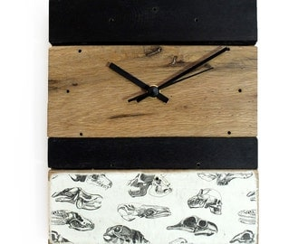 Clock wood - black and white / ground vanities