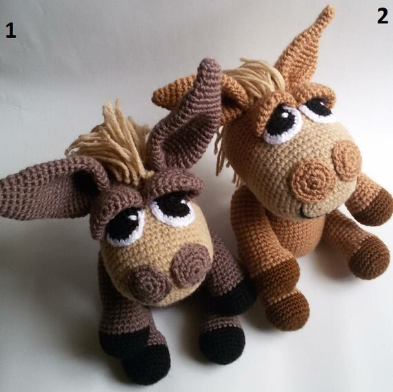 Amigurumi Knitted Animals : Donkey amigurumi knitted toys