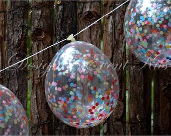 DIY Kit - Mini Confetti Balloon Bunting (Mini Circle Confetti)