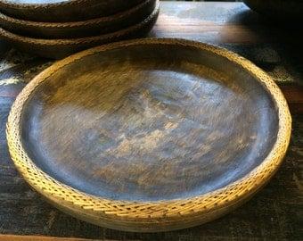 "15"" Round Wooden Tray"