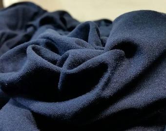 Navy Blue Rayon Silk Jersey