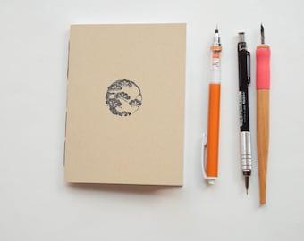 Japanese cloud Small blank kraft notebook