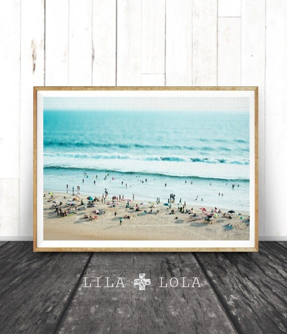 Beach photo decor print people ocean water by lilaxlola on etsy - Wall decor photography ...