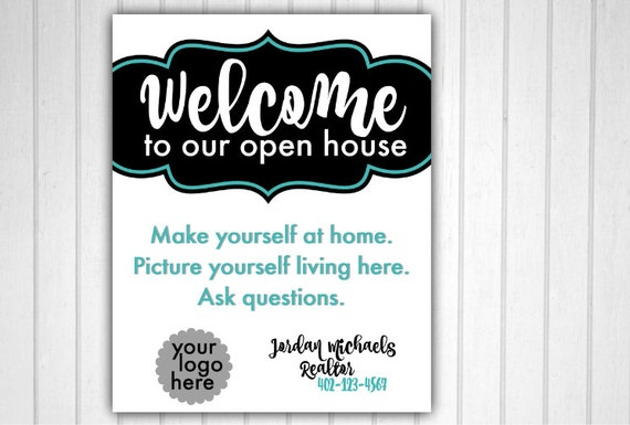 Dynamite image regarding welcome to our open house printable