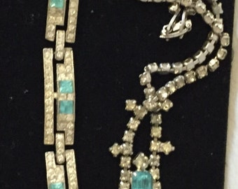 Dazzling Vintage Rhinestone Jewelry Set