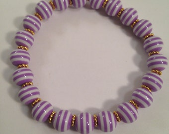 Purple Striped Bracelet