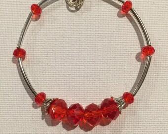 BRACELET CRYSTAL RED