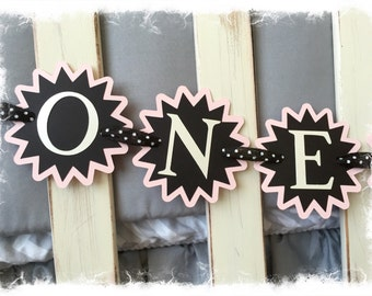 "Twinkle Twinkle Little Star--First Birthday ""ONEderful"" Crib/Table Banner"