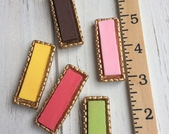 Miniatures Rectangular Cake Base and Tray (Set of 2)