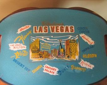 VINTAGE Las Vegas tray / Tray Mid-Century Las Vegas / VTG decorative tray in Las Vegas / VTG remember Vegas