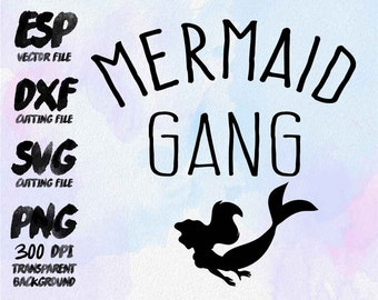Mermaid gang Clipart , SVG Cutting , ESP Vectors files , T shirt , iron on , sticker ,Personal Use