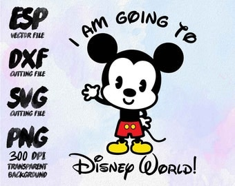I am going to disney 2016 Mickey baby Clipart , SVG Cutting , ESP Vectors files , T shirt , iron on , sticker ,Personal Use
