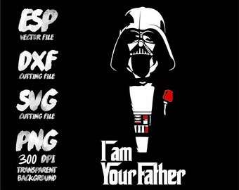 Star wars  Darth vader I am your Father Clipart , SVG Cutting , ESP Vectors files , T shirt , iron on , sticker ,Personal Use