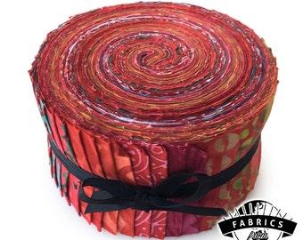 Raspberry Pop - Batik Jelly Roll - Quilting Fabric