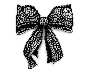 Lace Bows Romantic - 2 Temporary Tattoos
