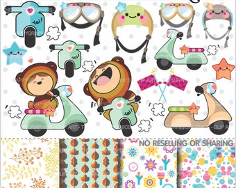 80%OFF - Motorcycle Clipart, Motorcycle Graphics, COMMERCIAL USE, Scooter Motorbike, Planner Accessories, Vespa Graphic, Moto Clipart