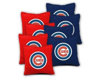 CHICAGO CUBS Set of 8 ACA Regulation Cornhole Bags Bean Bag Toss