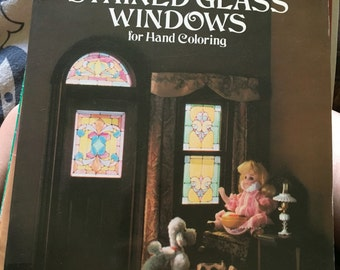 Dollhouse stained glass windows