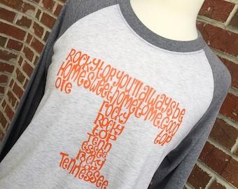 Rocky Top Shirt - Vols Shirt - Tennessee Shirt - Football Shirt - Baseball Shirt - Womens Shirt - Ladies Shirt - Womens Top - Ladies Top- UT