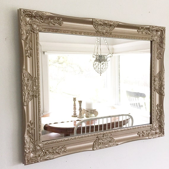 vintage style bathroom mirror large salon mirror country mirror gold mirror large 21243