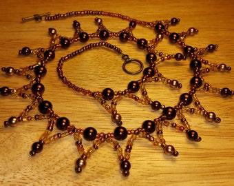 Bead drop Necklace