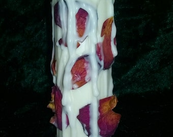 Vanilla and rose love candle (pure soy wax)
