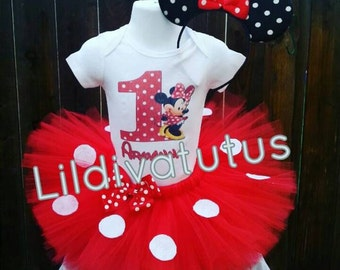 Handmade Red Minnie Mouse Tutu