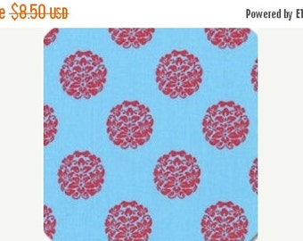 ON SALE Paula Prass for Michael Miller, Bloom in Blue fabric, Woodland Delight Collection, 1 yard DC4083