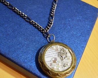 Gold and silver key locket