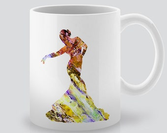 Dance Watercolor Art - Woman Dancer Mug - Printed Tea Mug - Colorful Coffee Mug