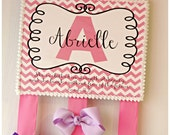 She Is Clothed In Strength And Dignity, And She Laughs Without Fear Of The Future. Proverbs 31:25 Personalized Hair Bow Holder