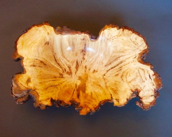 hand turned wooden Bowl, Sugar Maple, burl, hand turned, Centerpiece