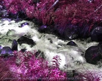 Pink Stream digital downloadable art