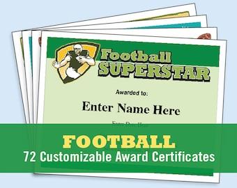 Certificates etsy football certificates templates youth football kid certificates certificate templates football mom yadclub Gallery