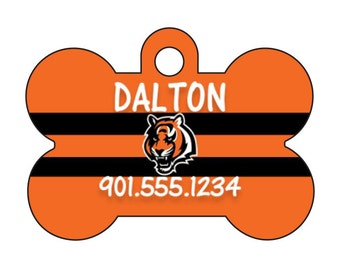 Cincinnati Bengals Personalized Dog Tag Pet Id Tag w/ Your Pet's Name and Number