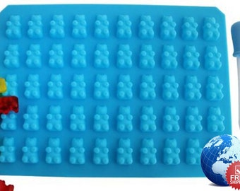 50 Gummy Bear Maker Cavity Mold Silicone Chocolate Candy Ice New Tray