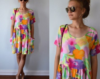 C.C. Collection Dress, 1990s Dress, Casual Dress, Summer Dress, Dress