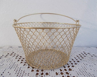Gold Wedding Flower Girl Basket Spring Summer Fall Autumn Christmas Reception Centerpiece Buffet Favor Display Decoration Party Gift Him Her