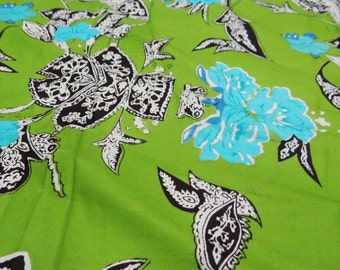 """Indian Pure Cotton Designer Floral Printed Fabric 42""""Wide Fabric Sewing Craft Material For Dress Making Sew Cotton Fabric By 1 Yard ZBC4902"""