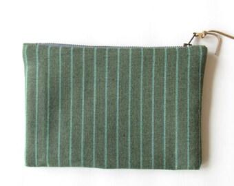 wool zippered pouch