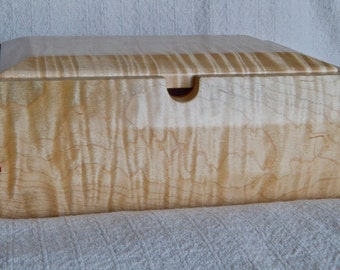 Artisan Crafted Tiger Maple Box