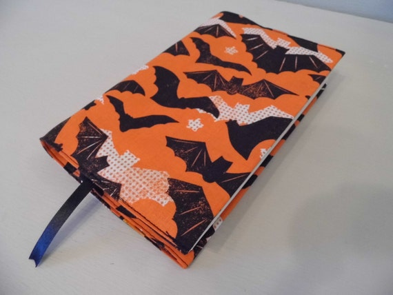 Handmade Fabric Book Covers : Sale bats handmade fabric book cover